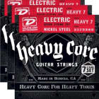 3-PACK! Dunlop Heavy Core 7 NPS Guitar 7-String Set (10-60 Gauge) DHCN1060 image