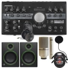 Mackie Big Knob Studio Plus -24 Bit 192 kHz, Audio Interface + Mackie CR4 Monitors Bundle image