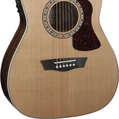 Washburn HF11SCE Heritage Series Folk Acoustic-Electric Guitar - Natural Gloss
