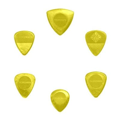 New Telefunken Elektroakustik Variety Mix Pack Guitar Picks (6-pack) - Yellow