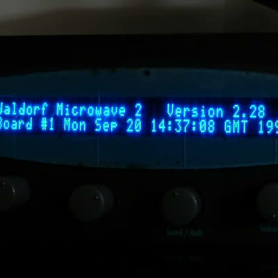 VFDisplay Upgrade - Waldorf MW ll - Microwave XT XTK (Gold Amber Blue)