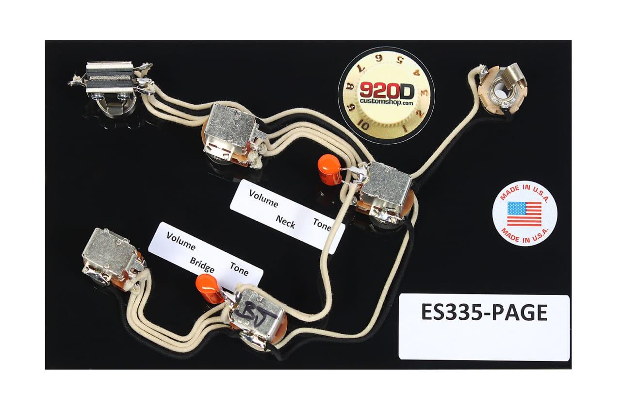 Gibson    ES      335       Wiring    Harness Switchcraft Bournes ACME