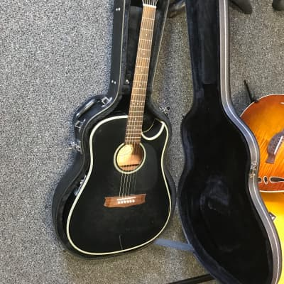 Vantage VST60 CE TB acoustic electric guitar handcrafted in Korea in good condition with Ibanez hard case for sale
