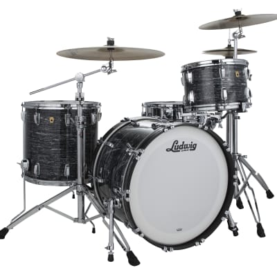 Ludwig Legacy Maple Vintage Black Oyster Fab 14x22_9x13_16x16 Drums Special Order Authorized Dealer