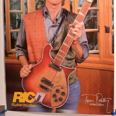Rickenbacker Tom Petty #660-12 Ltd Edition Guitar Poster 1991 for sale
