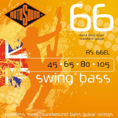 Rotosound RS66EL Swing Bass 66 Roundwound Extra Long Bass Strings