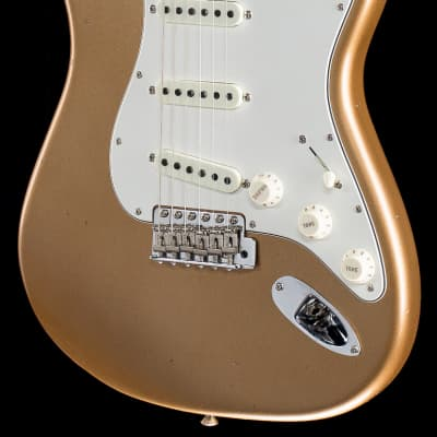 Fender Custom Shop 2019 '65 Stratocaster Journeyman Relic Faded Aged Firemist Gold (881) for sale