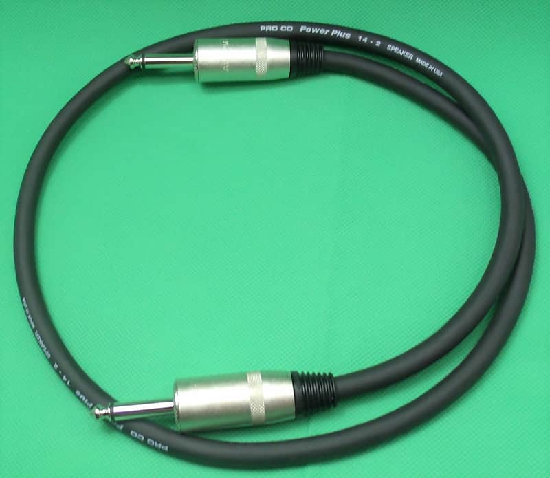 3 ft guitar speaker cable 14 guage 1 4 in plugs for reverb. Black Bedroom Furniture Sets. Home Design Ideas
