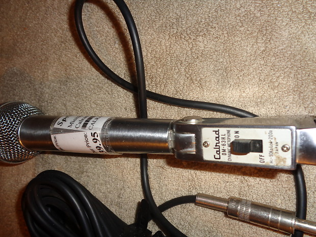 vintage calrad dm 63h l dynamic microphone made in japan reverb. Black Bedroom Furniture Sets. Home Design Ideas