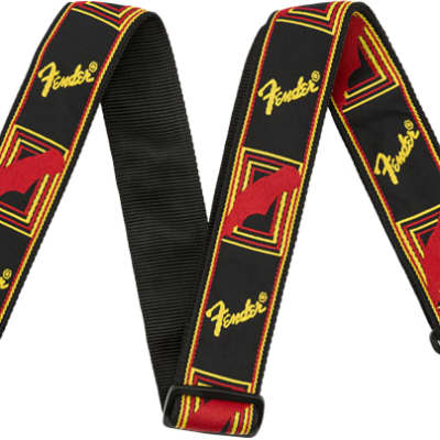 Fender Black /Yellow /Red Monogrammed Strap