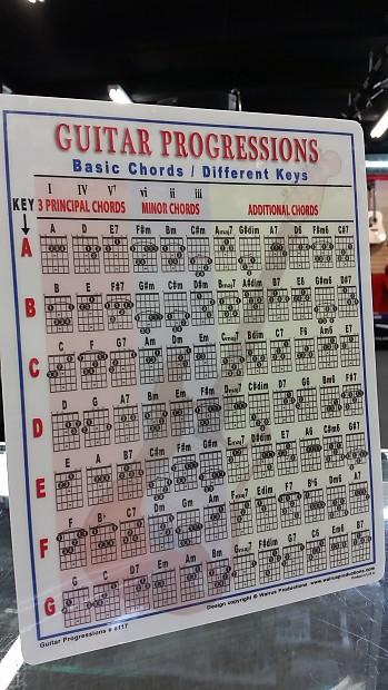 Beginner Guitar Chord Progressions Chart Songwriter Guide | Reverb