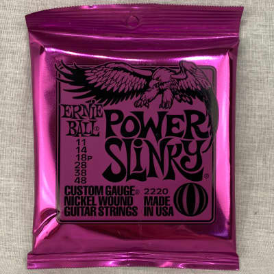 Ernie Ball 2220 Power Slinky Electric Guitar Strings, .011 - .048