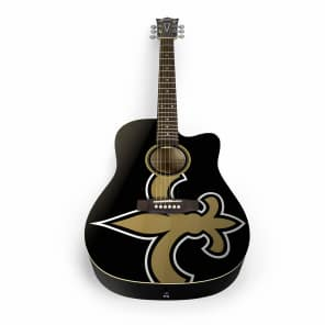 Woodrow New Orleans Saints Acoustic Guitar Graphic
