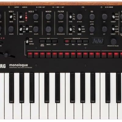 Korg monologue Monophonic Analog Synthesizer, Black, NEW! #000441664959