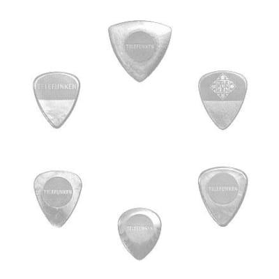New Telefunken Elektroakustik Variety Mix Pack Guitar Picks (6-pack) - White