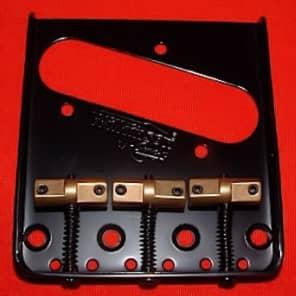 Guitar Parts WILKINSON WTB Bridge - Telecaster Tele - Brass Saddle - BLACK