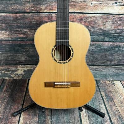 Ortega Left Handed R122-7/8-L Family Series 7/8 Size Nylon String Acoustic Guitar for sale