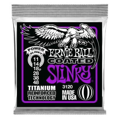 Ernie Ball Power Slinky Coated Titanium RPS Electric Guitar Strings