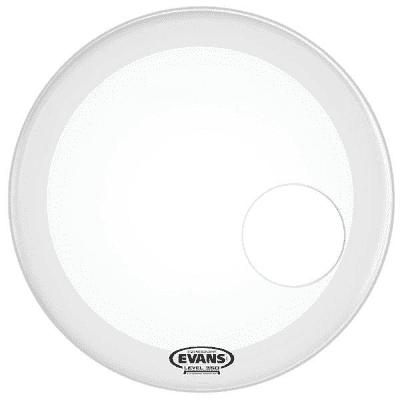 "Evans BD22RGCW EQ3 Resonant Coated White Bass Drum Head - 22"""