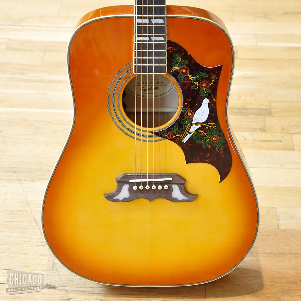 epiphone dove pro with fishman sonitone used reverb. Black Bedroom Furniture Sets. Home Design Ideas