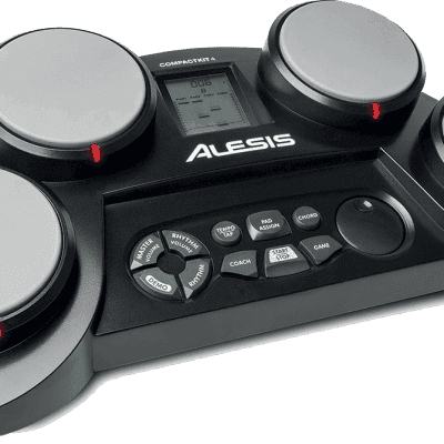 Alesis CompactKit 4 Tabletop Electronic Drum Pad Kit 2019 Black