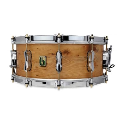 "British Drum Company Archer 14x6"" 10-Lug English Yew Snare Drum"