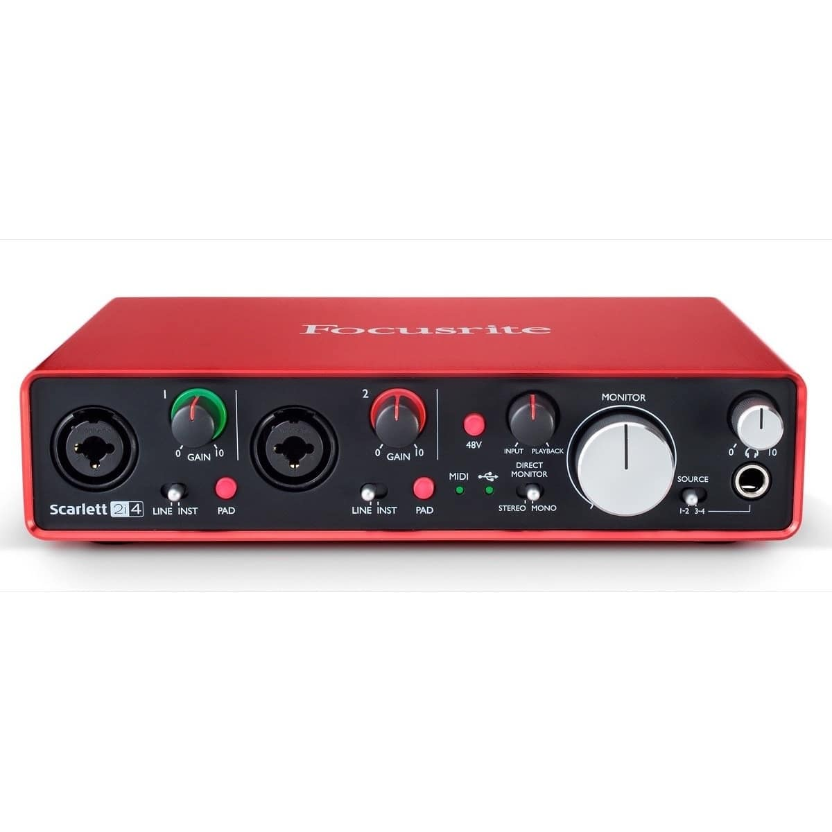 focusrite scarlett 2i4 2nd gen usb audio interface zzounds reverb. Black Bedroom Furniture Sets. Home Design Ideas