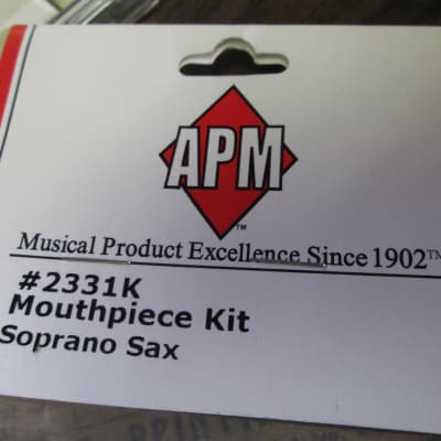 APM Soprano Saxophone Mouthpiece kit #2331K 2010s Black /Nickel
