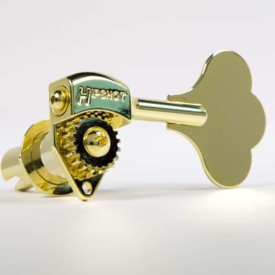 Hipshot Ultralite LIC Tuner HB6C 1/2 Gold - 5 String 2x3 Set Auth Dealer
