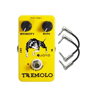 Joyo JF-09 Optical Tremolo Guitar Effects Pedal with Patch Cables