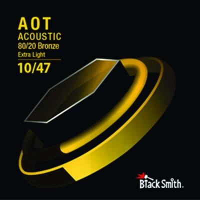 BLACKSMITH Acoustic 6 String Set, Nano-Carbon Coated 80/20 Bronze - Extra Light 10-47