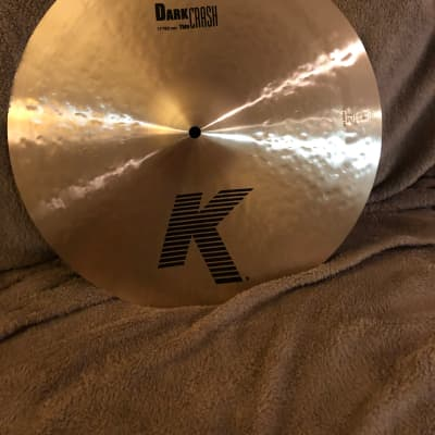 "NEW Zildjian 17"" K Series Dark Thin Crash Cymbal"