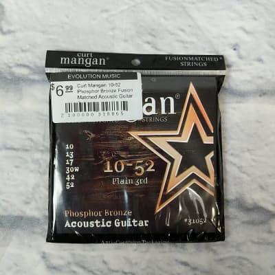 Curt Mangan 10-52 Phosphor Bronze Fusion Matched Acoustic Guitar Strings
