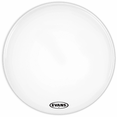 """Evans BD24MS1W MS1 White Marching Bass Drum Head - 24"""""""