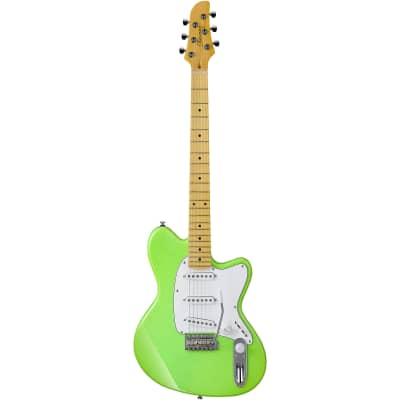 Ibanez Yvette Young YY10 Signature Electric Guitar Slime Green Sparkle / Free Ibanez Gig Bag for sale