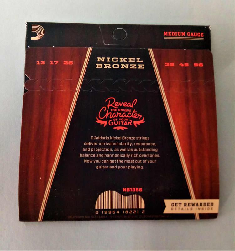 d 39 addario nb1356 nickel bronze acoustic guitar strings reverb. Black Bedroom Furniture Sets. Home Design Ideas