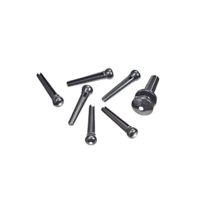 D'addario PWPS9 Molded Bridge Pins with End Pin Set of 7 - Black