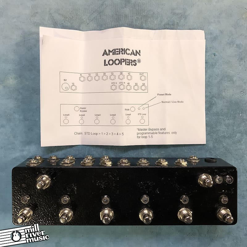 American Loopers 6-Channel Effects Loop Switcher Pedal