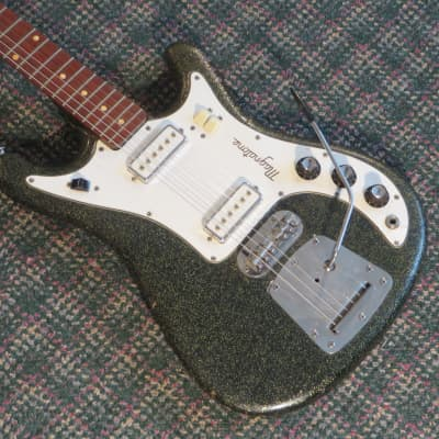 1965 Magnatone Model X15 Tornado Black Sparkle! w/OHSC for sale