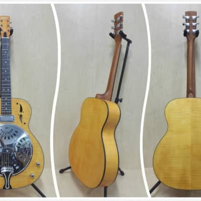 Haze Roundneck Resonator Guitar,Flame Maple,1xH Pickups+Free Gig Bag |SDG-727EQ| for sale
