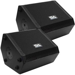 "Seismic Audio SAX-10M-PAIR Compact Passive 1x10"" 200w 2-Way Titanium Horn Speakers (Pair)"