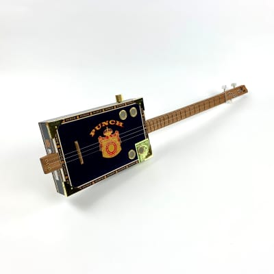 Cigar Box Guitar Punch Box 3 String Electro Acoustic Volume for sale