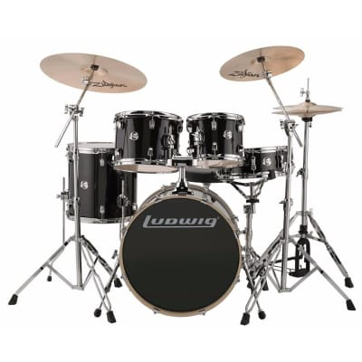 "Ludwig Element Evolution 8x10 / 9x12 / 14x14 / 16x20 / 5x14"" Drum Set"