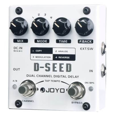 JOYO D-SEED DUAL CHANNEL DELAY ANALOG DIGITAL REVERSE TAP TEMPO 4 MODES FREE SHIPPING for sale