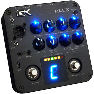 Gallien Krueger Plex Preamp Bass Guitar 4-Band EQ USB Compressor Tuner Pedal for sale