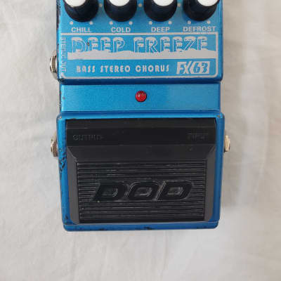 90s DOD USA Deep Freeze Bass Stereo Chorus FX63 Electric Bass Effects Foot Pedal for sale