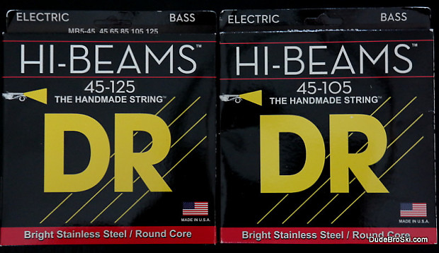 dr hi beam stainless steel bass strings wound on round reverb. Black Bedroom Furniture Sets. Home Design Ideas