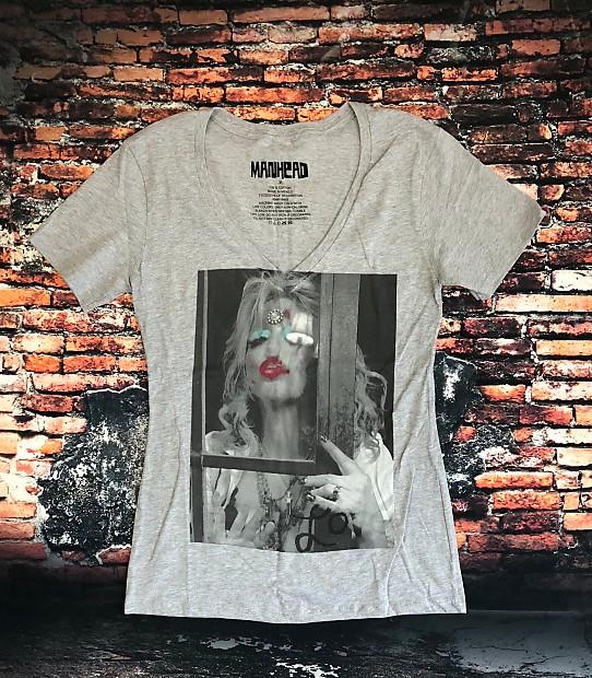 76179cb85 Courtney Love V-neck T-shirt - Ladies XL | Altar Dawn Tees | Reverb