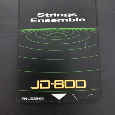 Roland SL-JD80-04 Strings Ensemble Data Card