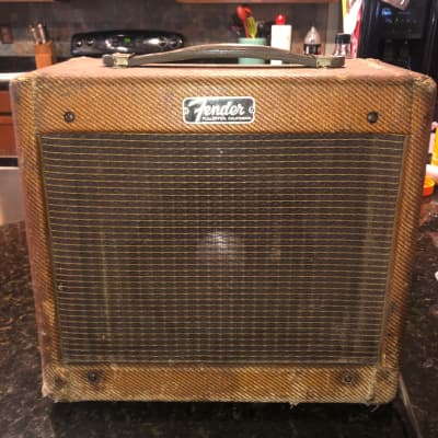 1963 Fender Champ 5F1 with JBL D208 last year of Tweed with JBL